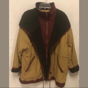 💕HP💕 Vintage 90's Color Block Coat with Hood
